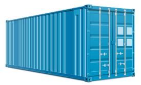 20-ти футовый стандартный (стальной) контейнер